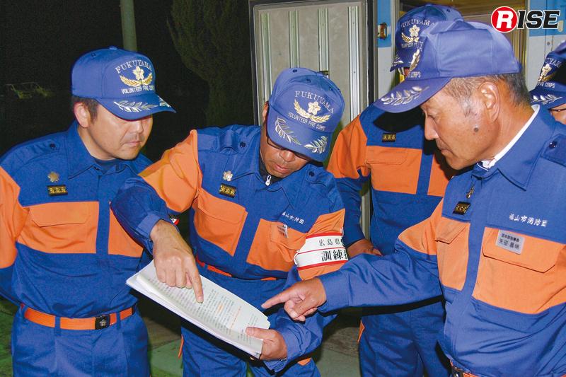 指導員チームは事前に統一事項などを確認。