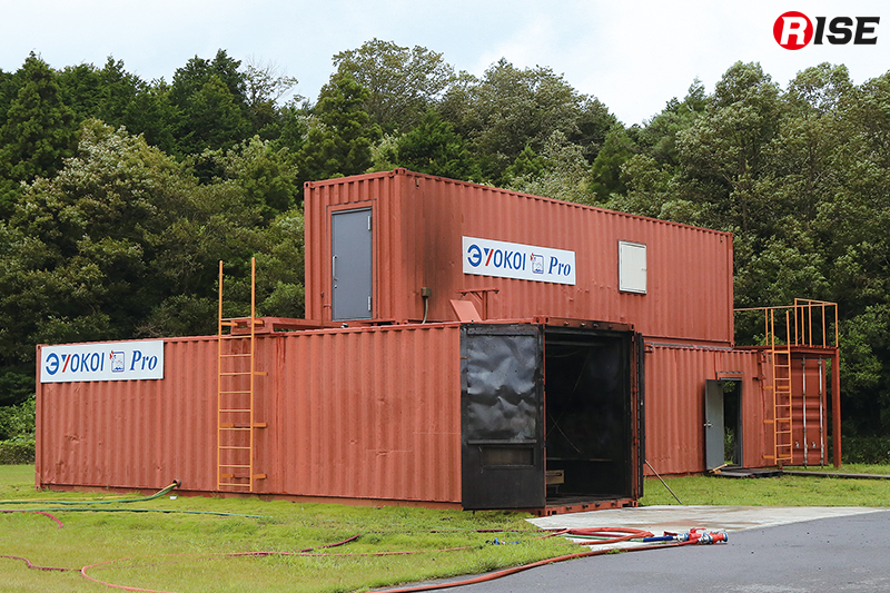 横井製作所が整備した国内最大規模の施設「ファイヤー・ベース」。立体的な活動などにも対応する。