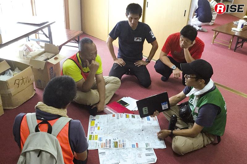 各ボランティアチームに作業局面を割り振り、対応をお願いする。