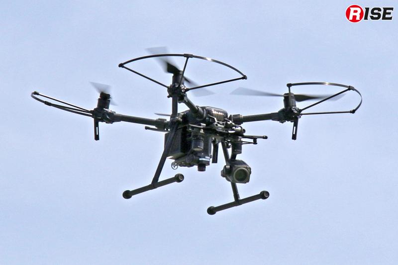 消防技術安全所がドローンにて上空からの情報収集を実施。