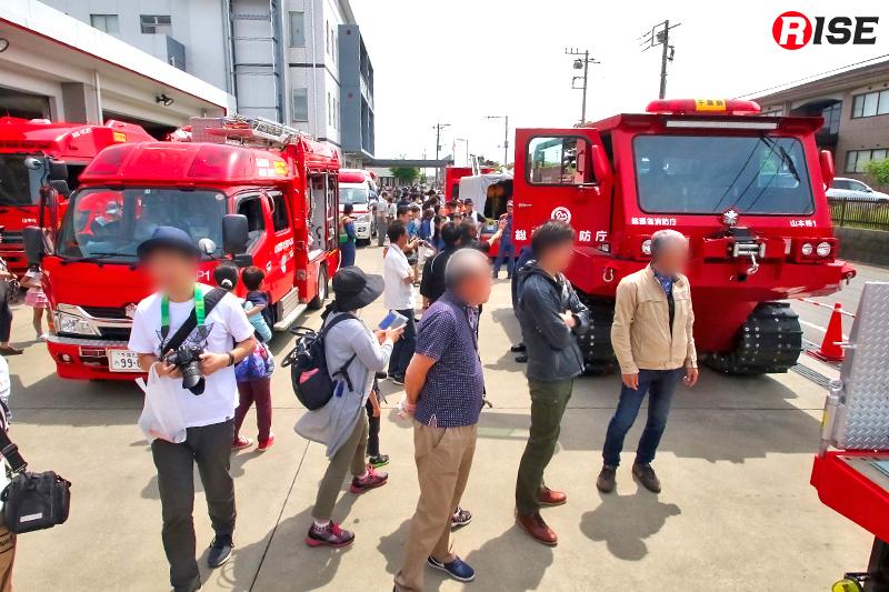 2019年6月1日に山武郡市広域行政組合消防本部で開催された消防フェスタには多くに人々が訪れた。