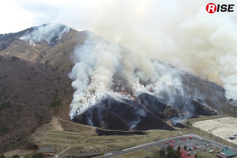 深入山の山焼き。