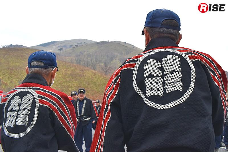 安芸太田町消防団が警戒活動を行う。