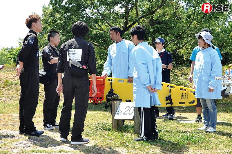 【交通事故シナリオ】 PA連携出場により同時出場した警防隊3名と共に活動を行う。
