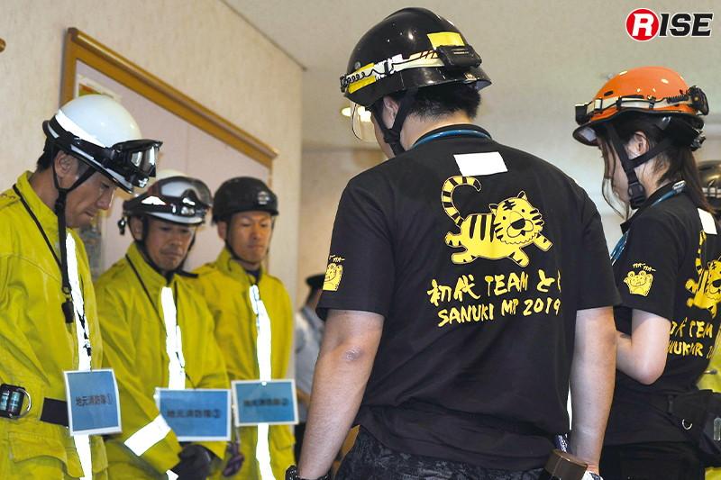 【多数傷病者シナリオ】 駅ビルにて爆弾テロが発生し訓練中だったDMATが自主的に出場する。