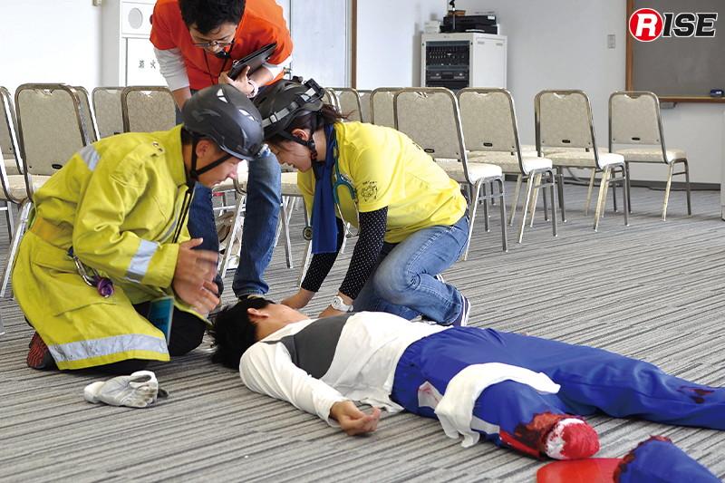 【多数傷病者シナリオ】 四肢切断状態の傷病者に対応する。