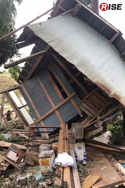 台風15号による千葉県香取市の被害状況。