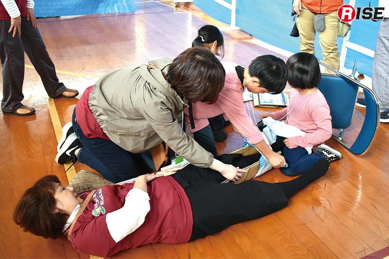 【子どもメディカルラリー】小学生を対象にしたメディカルラリーも開催。