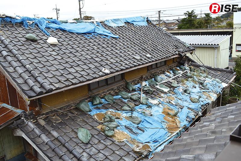 台風15号の被害を受け行った応急処置も19号の猛威により機能しなくなってしまった。