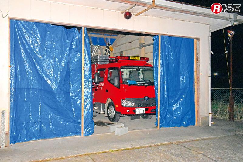 消防関連施設も各地で大きな被害を受けた。