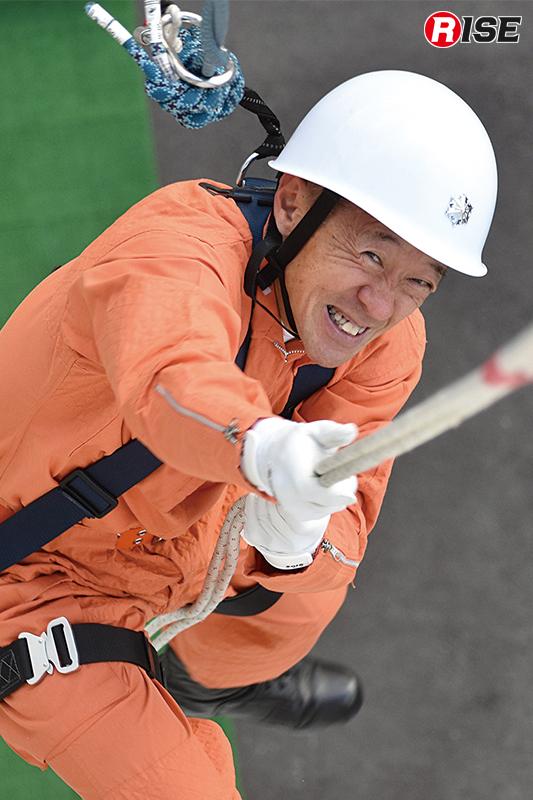 最年長の参加隊員は21.47秒で完登。