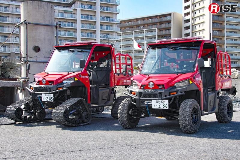消防組織では初の正式採用となるバギー型の全地形活動車 [写真提供:東京消防庁]