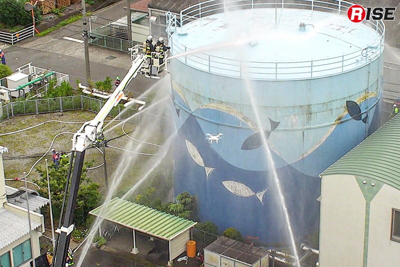 機体特性と性能を考慮し、市と消防団で複数のドローンを活用する。