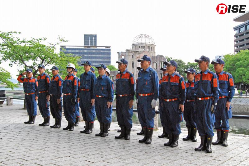 広島市中消防団の皆さん。