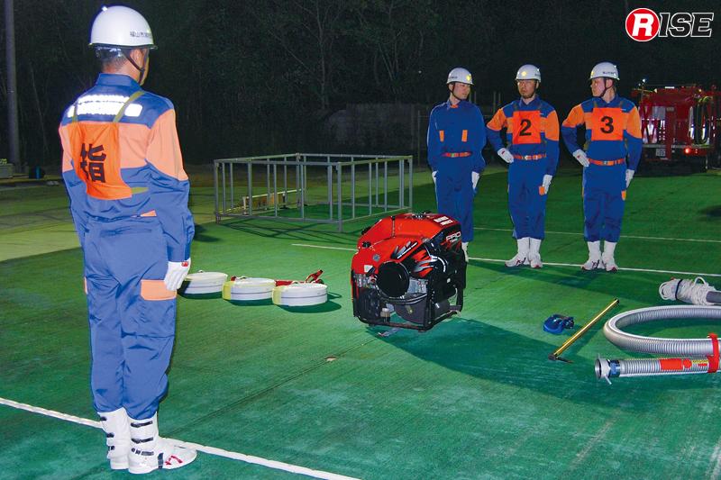 部分訓練は指揮者のホース延長までなど刻んで実施していく。