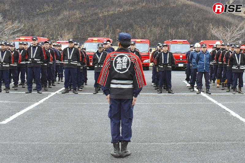 約100名での警戒により今年の山焼きも無事終了を迎えた。
