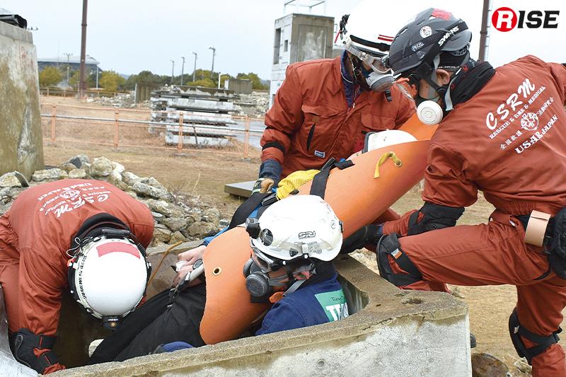 シナリオステーションでの救出場面。