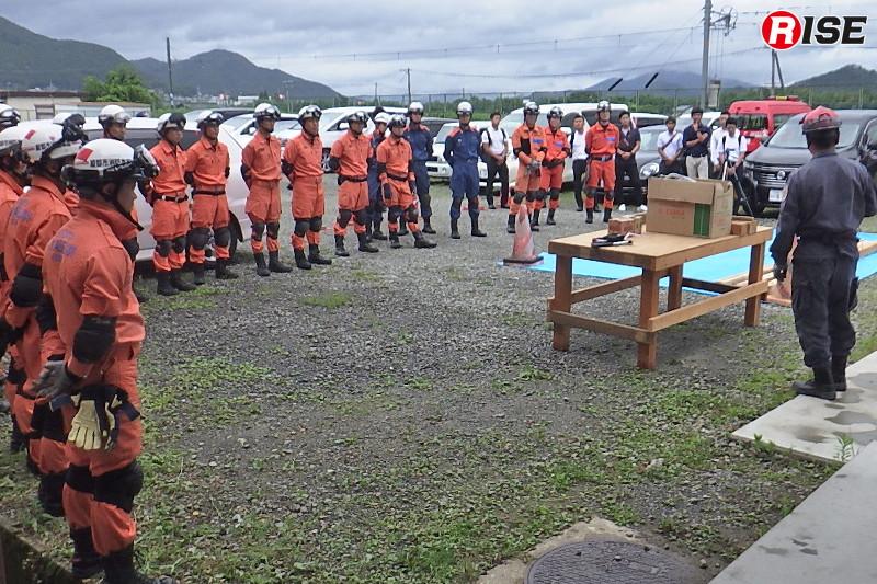 訓練には綾部市消防本部及び近隣消防本部から約30名が参加した。