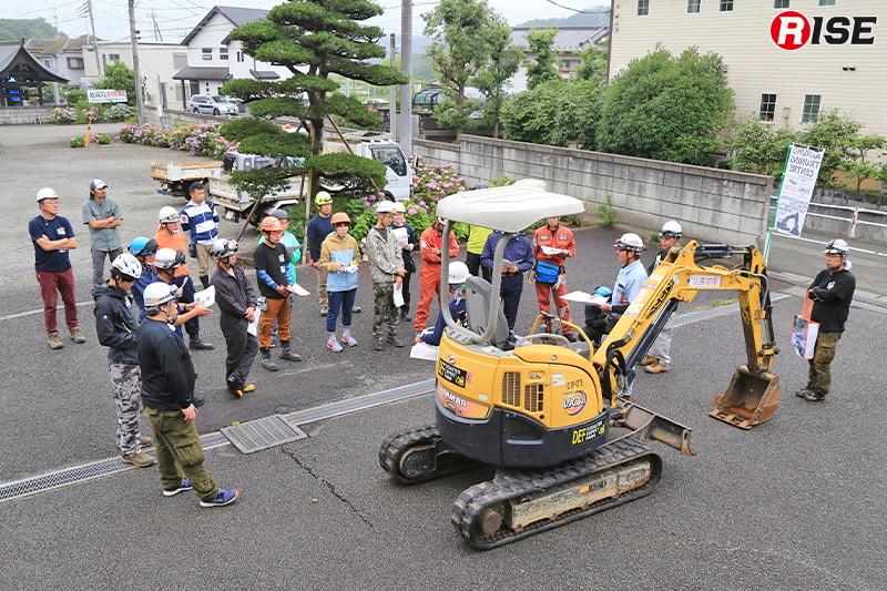 東京都あきる野市において2019年6月29日と30日の2日間実施された重機体験講習会。
