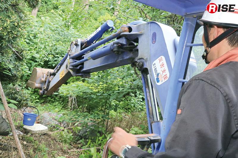 有資格者は障害物避けながらのバケツ搬送など、高度な技を体験した。