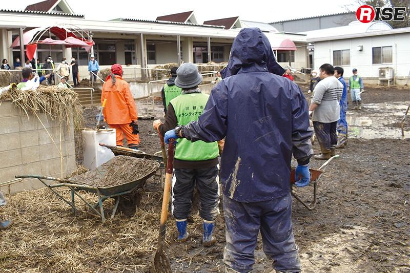 川越市では災害ボランティアセンターが開設され活動が行われていた。