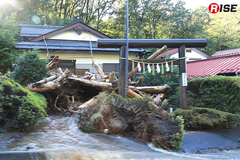 山間部や丘陵部ではがけ崩れなどの土砂災害が多発した。