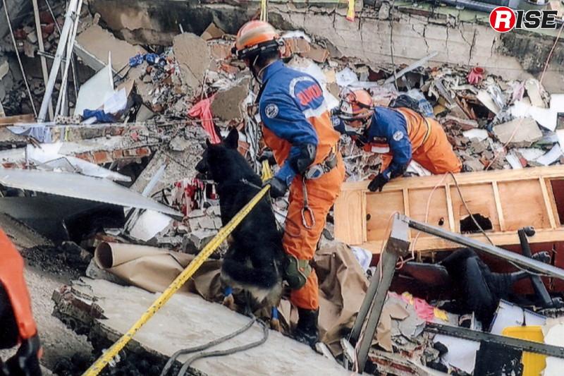 平成29年9月に国際緊急援助隊の救助チームとしてメキシコに派遣された際の活動状況。(写真:警視庁)