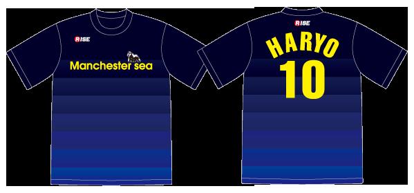 サッカーチーム Manchester sea 様 デザインイメージ1