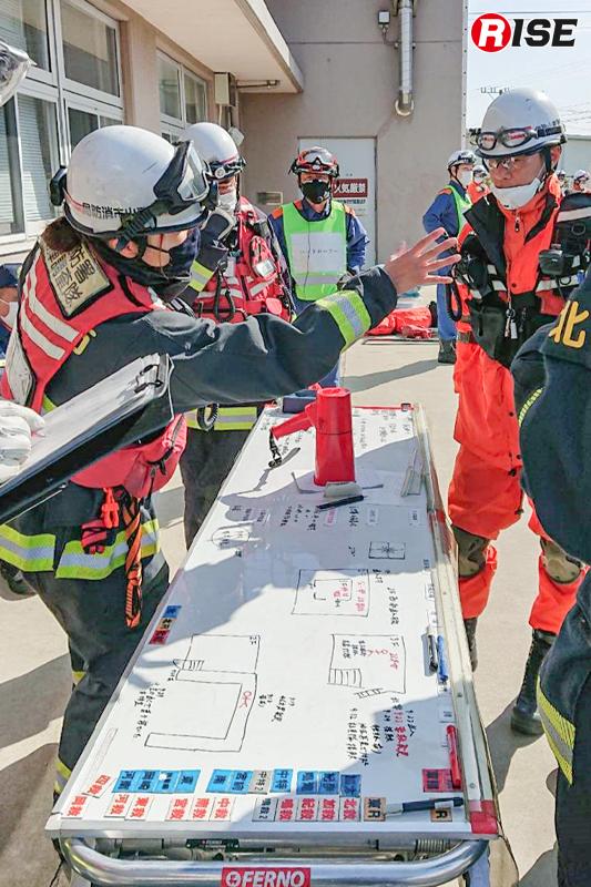 消防活動訓練の様子
