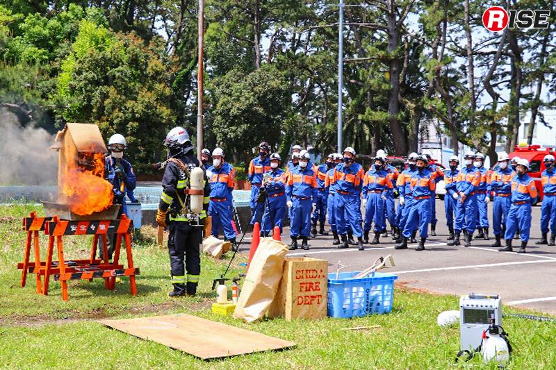 ドールハウスによる訓練の様子。(写真提供:焼津市消防団)