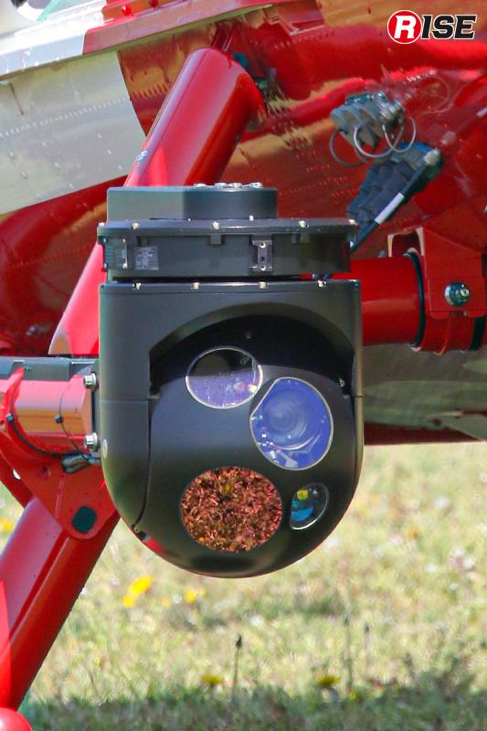 ヘリコプターテレビ伝送装置用カメラ。