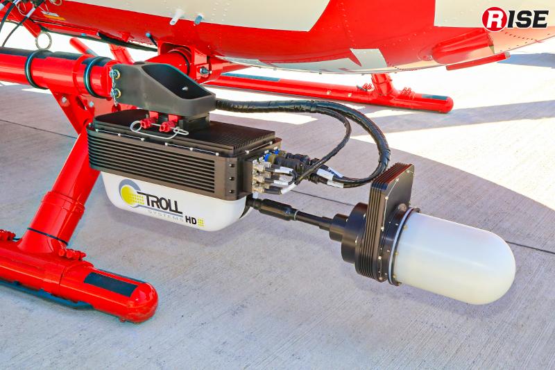ヘリコプターテレビ伝送装置用アンテナ。